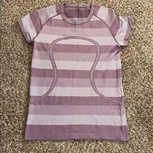 Purple LULULEMON Swift Short Sleeve Shirt Size 10